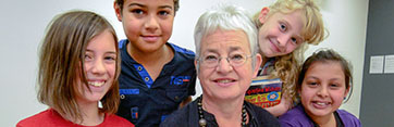 Jaqueline Wilson visits the Hive